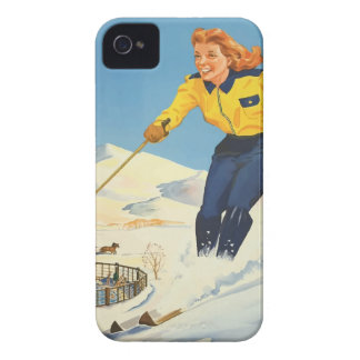 Vintage Travel Sun Valley Idaho iPhone 4 Cases