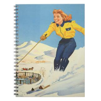 Vintage Travel Sun Valley Idaho Notebook
