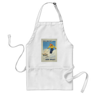 Vintage Travel Sun Valley Idaho Standard Apron
