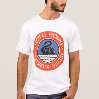 Vintage Travel, Swan Bird Hotel Monney Switzerland T-Shirt