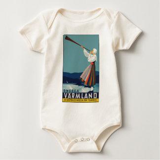 Vintage Travel Sweden Baby Bodysuit