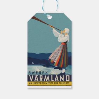 Vintage Travel Sweden Gift Tags