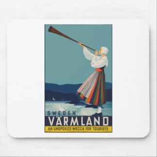 Vintage Travel Sweden Mouse Pad