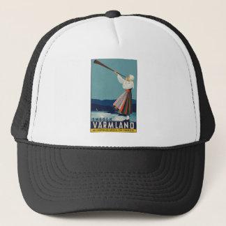 Vintage Travel Sweden Trucker Hat