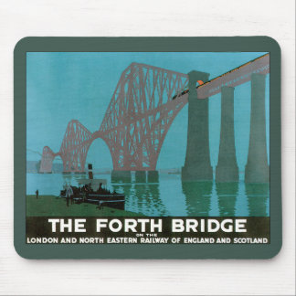 Vintage Travel, The Fourth Bridge, London Mouse Pad
