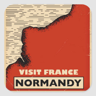 Vintage travel To Normandy, France Square Sticker
