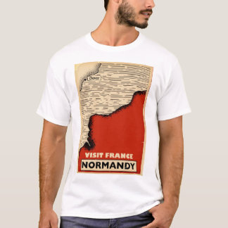 Vintage travel To Normandy, France T-Shirt