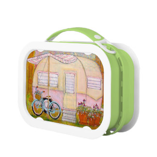 Vintage Travel Trailer Lunch Box