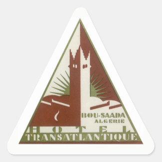Vintage Travel, Trans Atlantique Hotel, Algeria Triangle Sticker