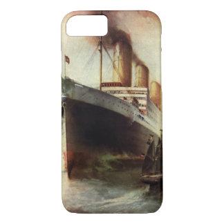 Vintage Travel Transportation Cruise Ship at Sea iPhone 7 Case