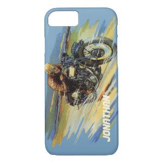 Vintage Travel Transportation, Racing Motorcycle iPhone 7 Case