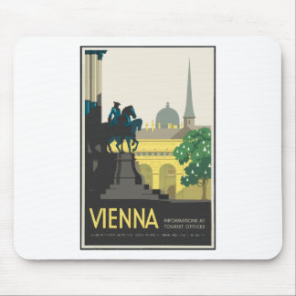 Vintage Travel Vienna Mouse Pad
