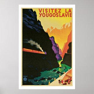 Vintage Travel Visitez La Yougoslavie Poster