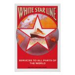 Vintage travel,White Star Line Poster