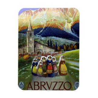 Vintage Travel, Women of Abruzzo, Italy Magnet