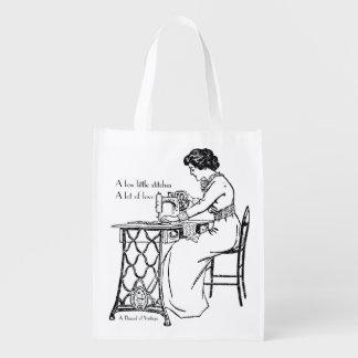 Vintage treadle sewing machine foldaway bag