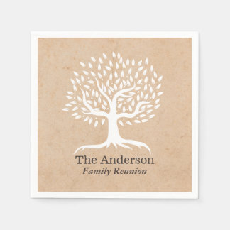 Vintage Tree Family Reunion Paper Napkins