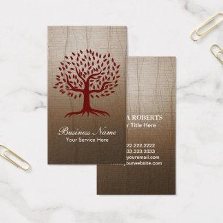 Vintage Tree  Logo Yoga Wellness Psychology Business Card