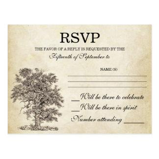 vintage tree old RSVP postcards