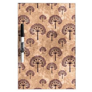 Vintage Tree Pattern Dry Erase White Board