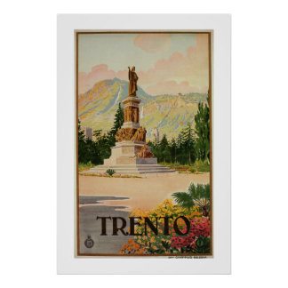 Vintage Trento Trent Italian travel Poster