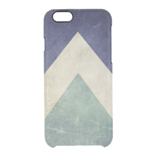 Vintage triangle pattern clear iPhone 6/6S case