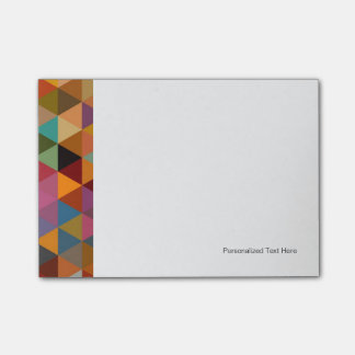 Vintage Triangles Pattern Background. Post-it Notes