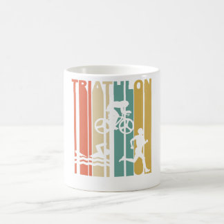 Vintage Triathlon Graphic Coffee Mug