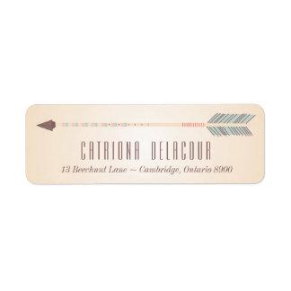 Vintage Tribal Arrow Wedding Address Label