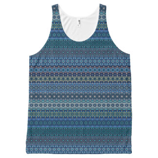 Vintage tribal aztec pattern All-Over-Print tank top