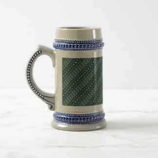Vintage tribal aztec pattern beer stein