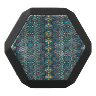 Vintage tribal aztec pattern black bluetooth speaker