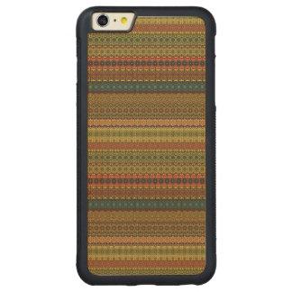 Vintage tribal aztec pattern carved maple iPhone 6 plus bumper case
