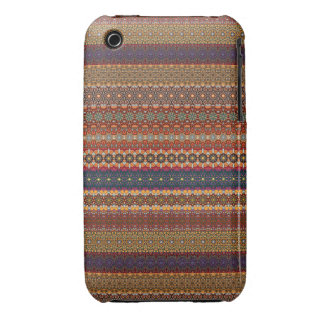 Vintage tribal aztec pattern Case-Mate iPhone 3 case