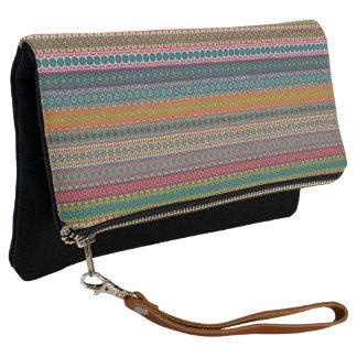 Vintage tribal aztec pattern clutch