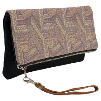 Vintage tribal aztec pattern clutch