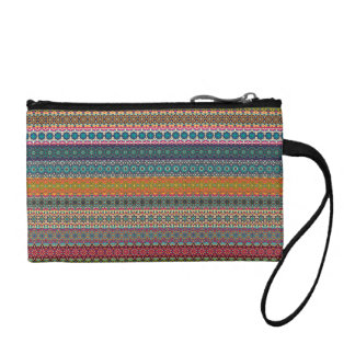 Vintage tribal aztec pattern coin purse