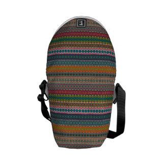 Vintage tribal aztec pattern commuter bag