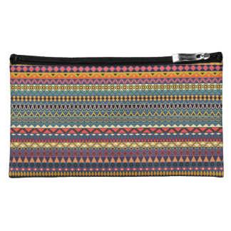 Vintage tribal aztec pattern cosmetic bag