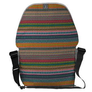 Vintage tribal aztec pattern courier bags