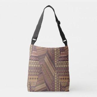 Vintage tribal aztec pattern crossbody bag