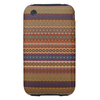Vintage tribal aztec pattern iPhone 3 tough case