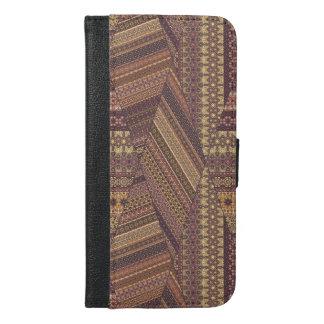 Vintage tribal aztec pattern iPhone 6/6s plus wallet case