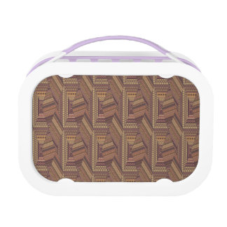 Vintage tribal aztec pattern lunch box