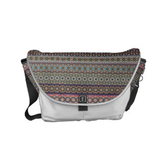 Vintage tribal aztec pattern messenger bag