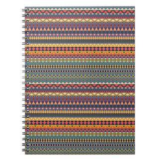 Vintage tribal aztec pattern notebook