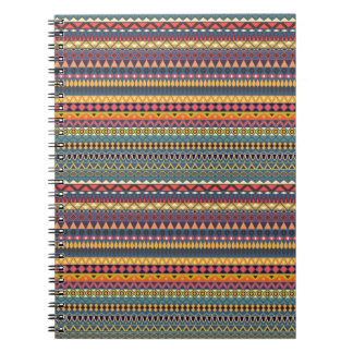 Vintage tribal aztec pattern notebooks