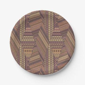 Vintage tribal aztec pattern paper plate