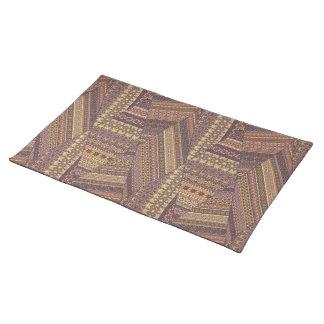 Vintage tribal aztec pattern place mat