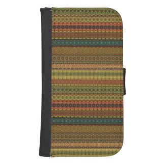 Vintage tribal aztec pattern samsung s4 wallet case